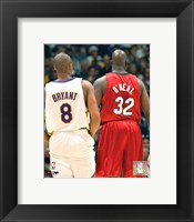 Framed Shaquille O'neal - Kobe Bryant - Heat / Lakers
