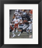 Framed Marcus Allen - Black Uniform With Ball