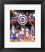Framed 2005 Pistons - Eastern Conference Championship Composite