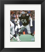 Framed Randy White - Game Action