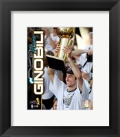 Framed Manu Ginobili 2005 - NBA Championship With Trophy Composite (#12)
