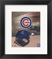 Framed Chicago Cubs - '05 Logo / Cap and Glove
