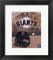 Framed San Francisco Giants - '05 Logo / Cap and Glove
