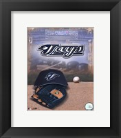 Framed Toronto Blue Jays - '05 Logo / Cap and Glove
