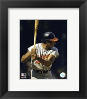 Framed Frank Robinson - Batting Action