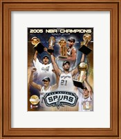 """Framed '04 - '05 Spurs NBA Champions / Composite """"PF GOLD"""" (Limited Edition)"""