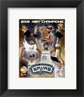 "Framed '04 - '05 Spurs NBA Champions / Composite ""PF GOLD"" (Limited Edition)"