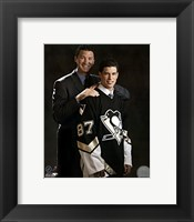 Framed 2005 - Sidney Crosby / Mario Lemieux Draft Day