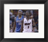 Framed Carmelo Anthony / Dwyane Wade '05 / '06 Action