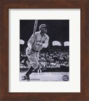 Framed Babe Ruth - Batting Action At The Stadium