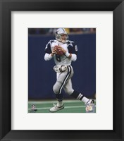 Framed Troy Aikman - Dropping Back