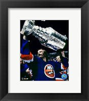 Framed Bobby Nystrom - With Stanley Cup