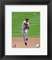 Framed Edgar Renteria -  2006 Fielding Action