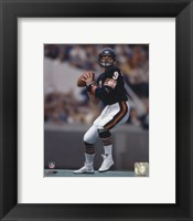 Framed Jim McMahon - Passing Action
