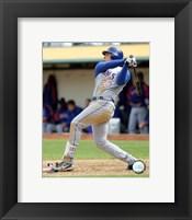 Framed Mark Teixeira - 2006 Batting Action