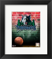 Framed Timberwolves - 2006 Logo