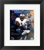 Framed Warren Moon - 2006 Hall Of Fame Legends Composite