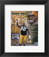 Framed Reggie White - 2006 Hall Of Fame Composite