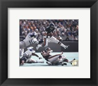 Framed Walter Payton - in air Action