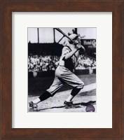 Framed Babe Ruth - Batting Action