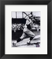 Framed Babe Ruth - Batting Action