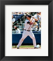 Framed Brian McCann - 2006 Batting Action