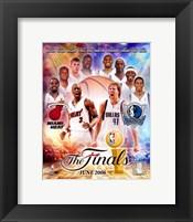 Framed NBA - 2006 Finals Match-Up Heat Vs. Mavericks