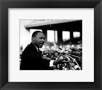 Framed Rev. Dr. Martin Luther King Jr. Speaking (#8)
