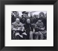 Framed Winston Churchill, Franklin D. Roosevelt and Joseph Stalin at Yalta in 1945. (#6)