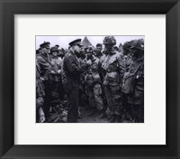 Framed General Dwight D. Eisenhower with 101 Airbourne (#2)