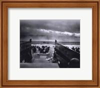 Framed Morning of June 6, 1944 (D-Day) at Omaha Beach (#1)