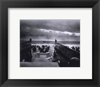 Framed Morning of June 6, 1944 (D-Day) at Omaha Beach (#1)