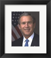 Framed Official photograph portrait of U.S. President George W. Bush (#11)
