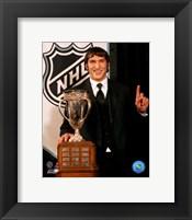 Framed Alexander Ovechkin with the 2006 Calder Trophy