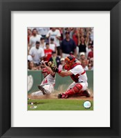 Framed Jason Varitek - 2006 Play At The Plate