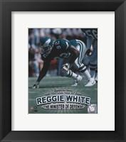 Framed Reggie White - Minister of Defense / '06 H.O.F.