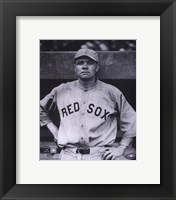Framed Babe Ruth - Close Up (Red Sox)