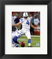 Framed Adam Vinatieri - '06 / '07 Action
