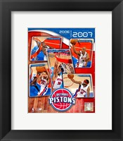 Framed '06 / '07 Pistons Team Composite