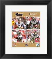 "Framed 2006 - Rams ""Big 4"""