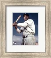 Framed Jackie Robinson - 1953 Posed Batting