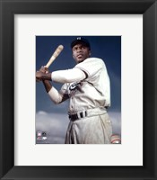 Framed Jackie Robinson - 1953 Posed Batting