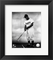 Framed 1948 - Jackie Robinson Pose With Bat
