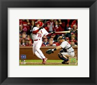 Framed David Eckstein -  '06 World Series RBI Double /  Game 4 (#13)