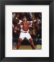 Framed Yadier Molina - Celebrates Winning 2006 World Series