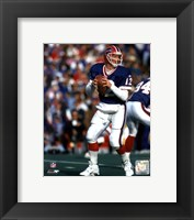 Framed Jim Kelly - Blue Jersey Action