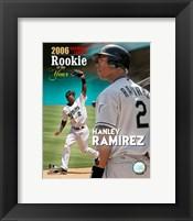 Framed Hanley Ramirez - 2006 N.L. R.O.Y.