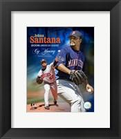 Framed Johan Santana -  2006 A.L. Cy Young Winner