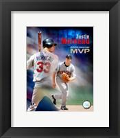 Framed Justin Morneau - 2006 A.L. MVP