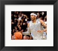 Framed Allen Iverson - '06 / '07 silver jersey